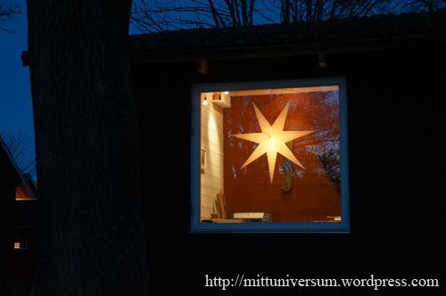 adventsstjärna utifrån