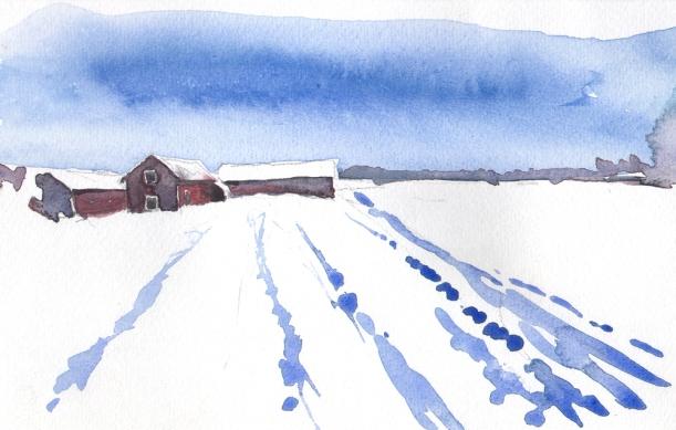 Akvarell Mats Ottosson