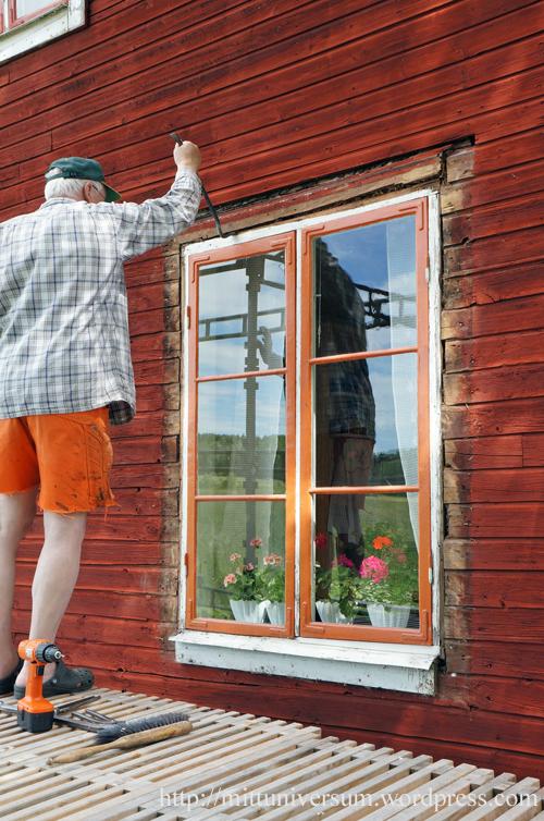 fönsterarbete