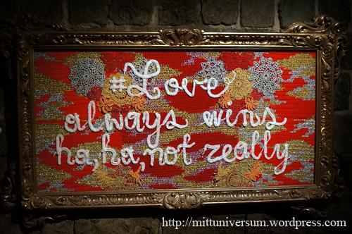Love always win,haha, not always